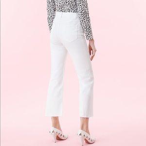Rebecca Taylor Cropped Bootcut Frayed Hem jeans
